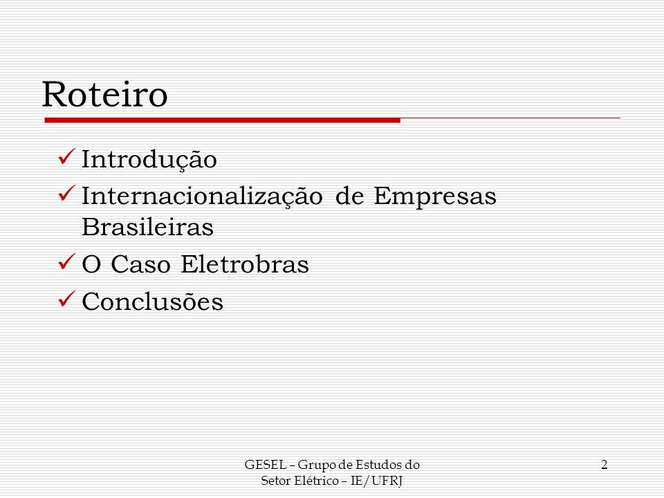 Introdução Historicamente, a economia brasileira era vista como receptora de investimentos estrangeiros.