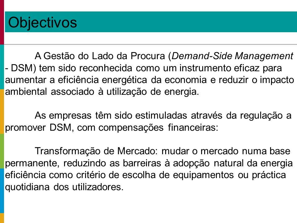 A Gestão do Lado da Procura (Demand-Side Management - DSM) tem sido reconhecida como um instrumento eficaz para aumentar a eficiência energética da economia e reduzir o impacto ambiental associado à utilização de energia.