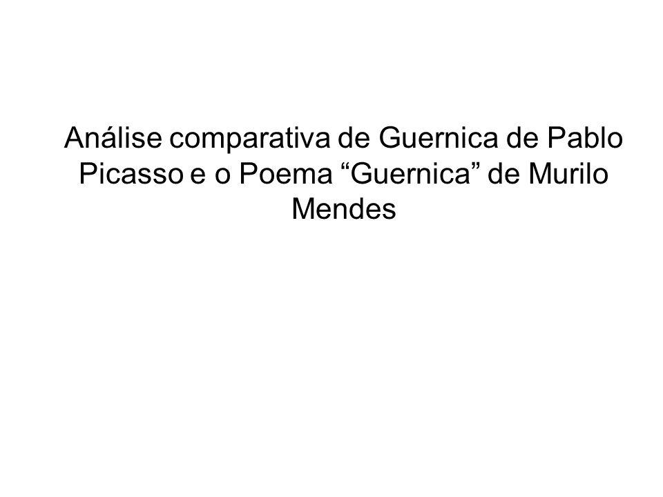 Análise comparativa de Guernica de Pablo Picasso e o Poema Guernica de Murilo Mendes