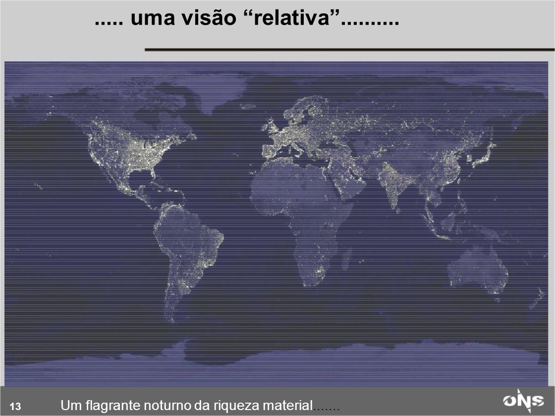 14 O eixo do desenvolvimento econômico-social A esparcidade do mercado Um flagrante noturno do PIB brasileiro