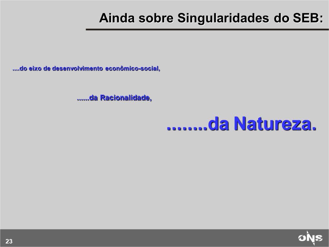 24 SIN AMAZÔNIA As Singularidades do SEB.... da Natureza Centenas de Rios Perenes e Caudalosos