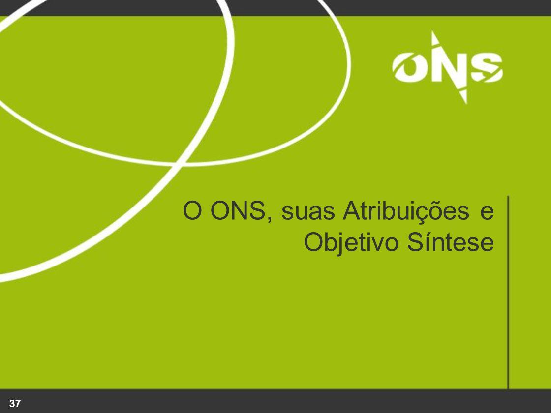 37 O ONS, suas Atribuições e Objetivo Síntese