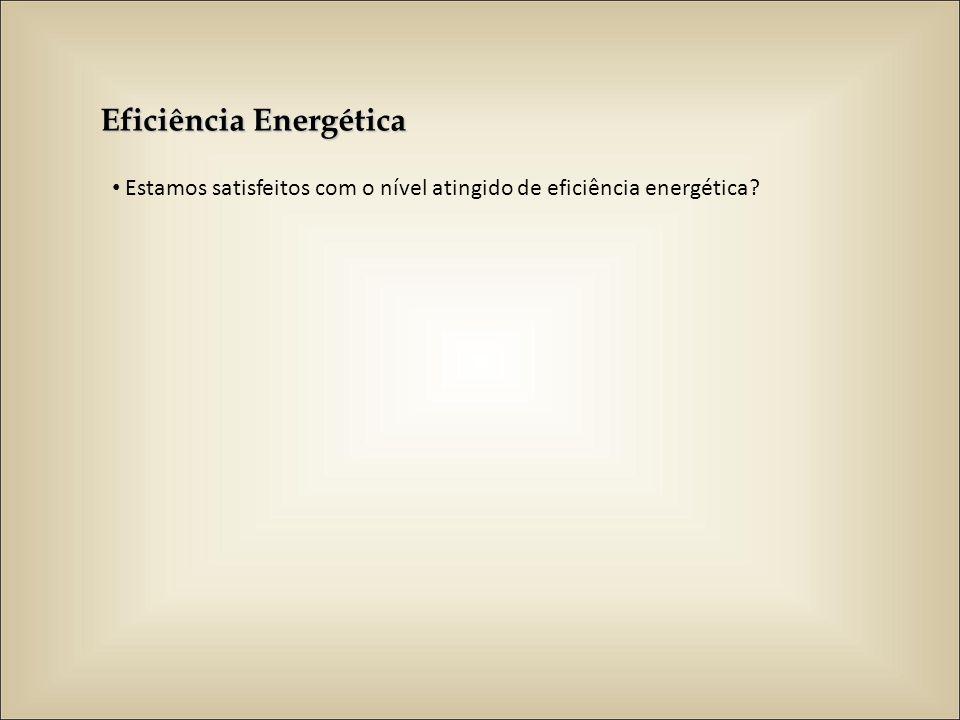 Eficiência Energética Estamos satisfeitos com o nível atingido de eficiência energética?