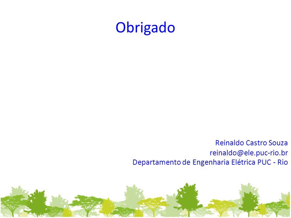 Obrigado Reinaldo Castro Souza reinaldo@ele.puc-rio.br Departamento de Engenharia Elétrica PUC - Rio