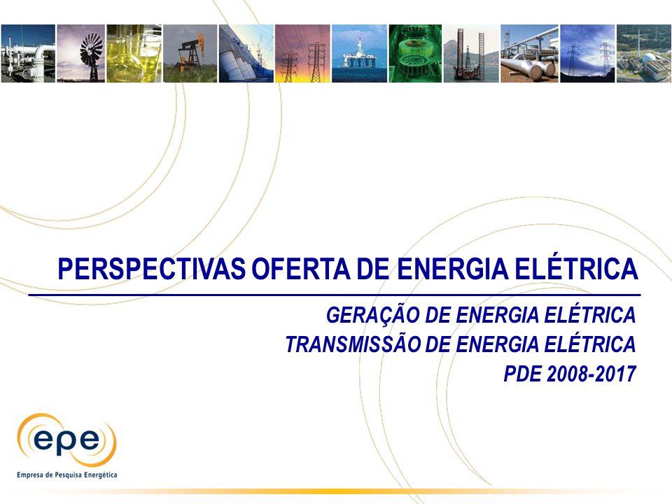 PERSPECTIVAS OFERTA DE ENERGIA ELÉTRICA GERAÇÃO DE ENERGIA ELÉTRICA TRANSMISSÃO DE ENERGIA ELÉTRICA PDE 2008-2017