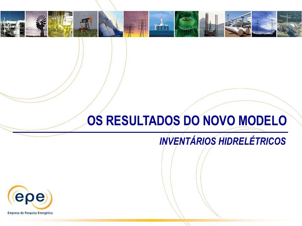 INVENTÁRIOS HIDRELÉTRICOS OS RESULTADOS DO NOVO MODELO