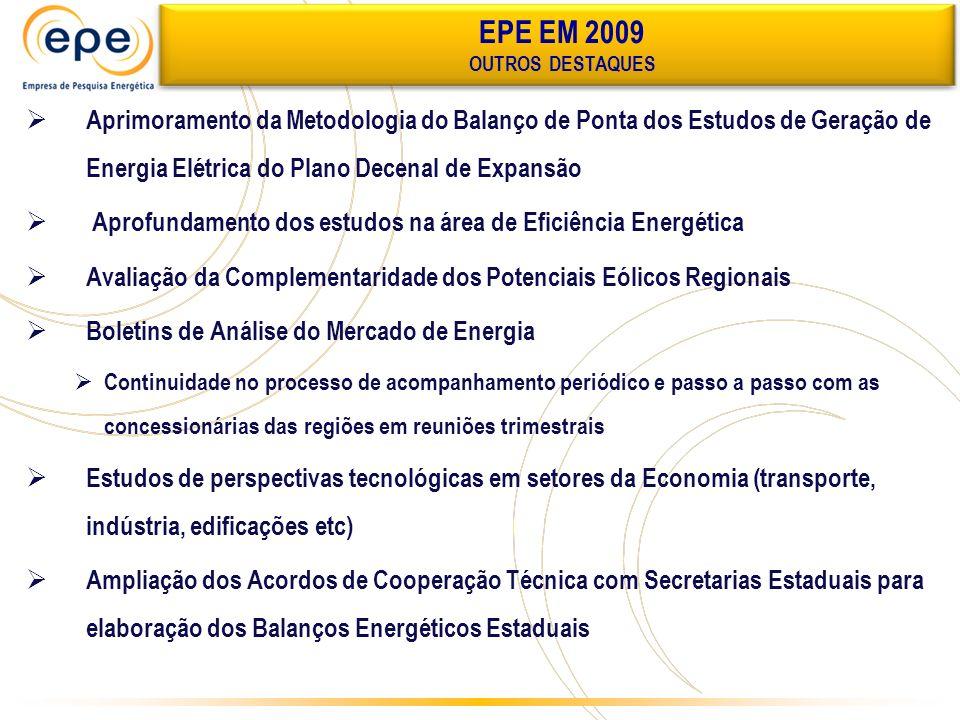 Aprimoramento da Metodologia do Balanço de Ponta dos Estudos de Geração de Energia Elétrica do Plano Decenal de Expansão Aprofundamento dos estudos na