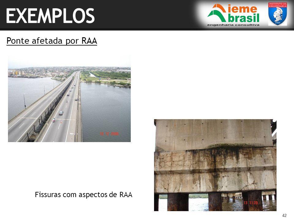 42 Ponte afetada por RAA 42 Fissuras com aspectos de RAA