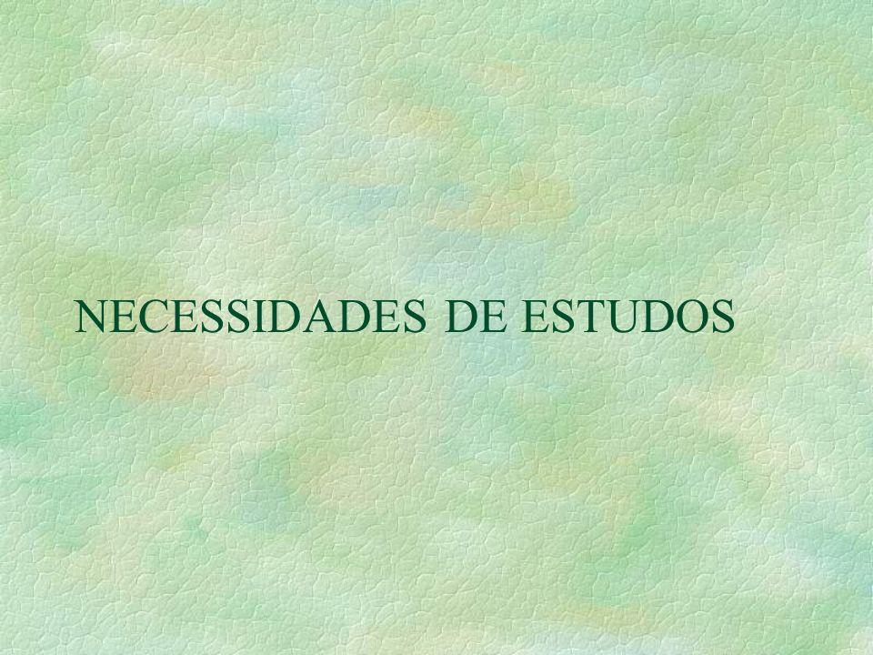 NECESSIDADES DE ESTUDOS