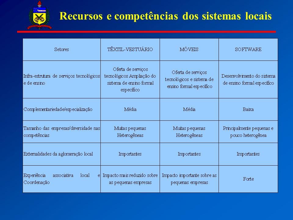 Recursos e competências dos sistemas locais
