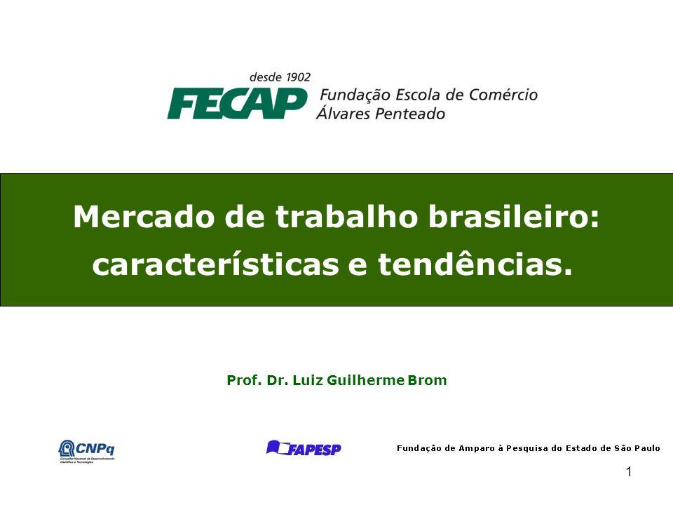 1 Mercado de trabalho brasileiro: características e tendências. Prof. Dr. Luiz Guilherme Brom