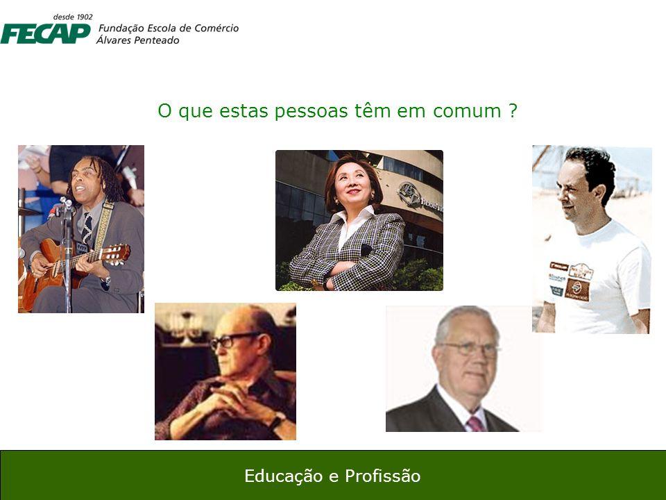 14 O que estas pessoas têm em comum ? Educação e Profissão