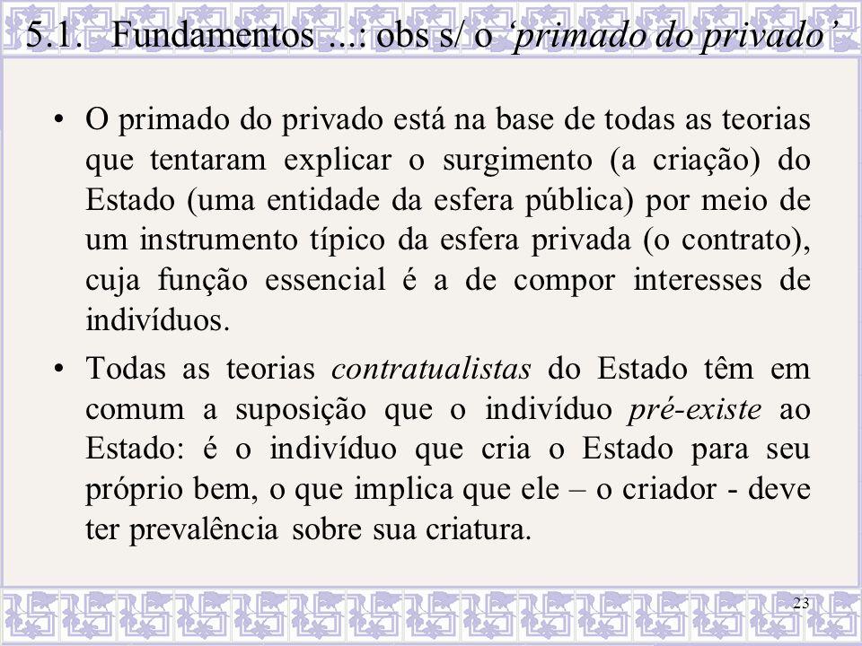 23 O primado do privado está na base de todas as teorias que tentaram explicar o surgimento (a criação) do Estado (uma entidade da esfera pública) por