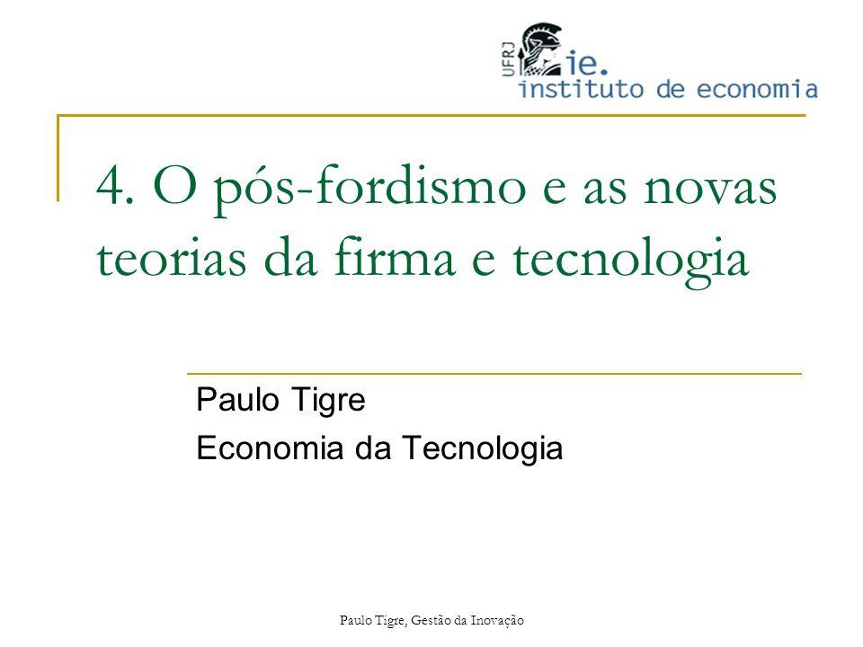 Paulo Tigre, Gestão da Inovação 4. O pós-fordismo e as novas teorias da firma e tecnologia Paulo Tigre Economia da Tecnologia