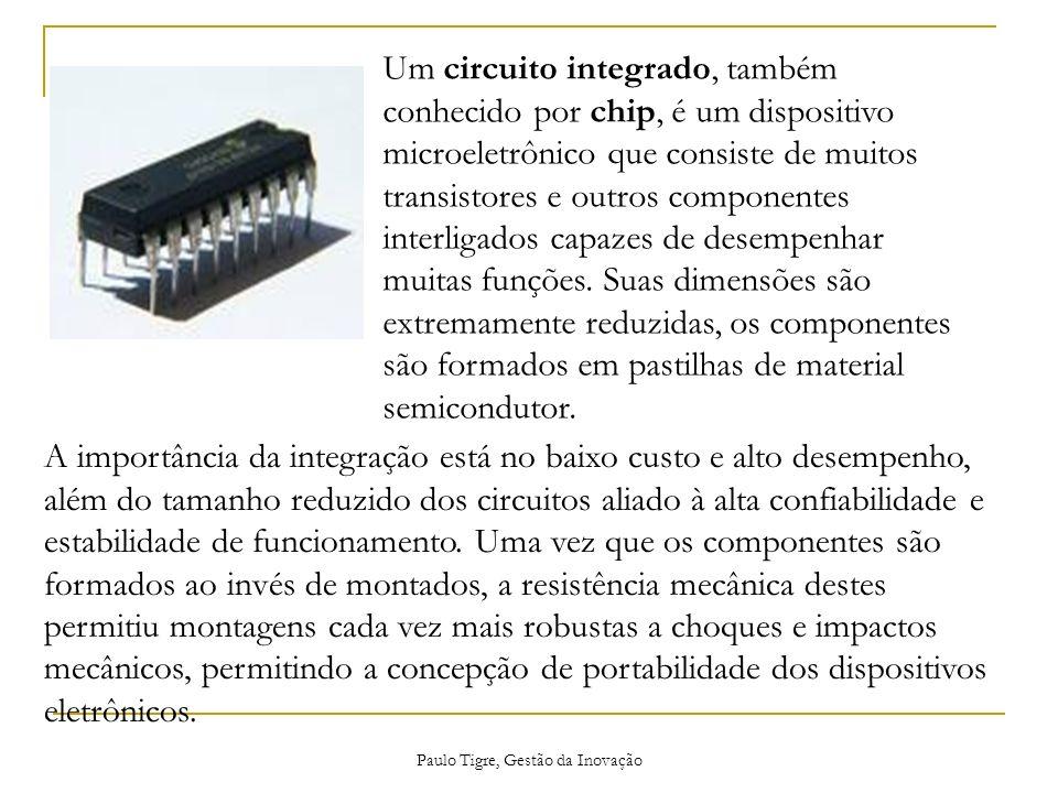 Paulo Tigre, Gestão da Inovação Um circuito integrado, também conhecido por chip, é um dispositivo microeletrônico que consiste de muitos transistores