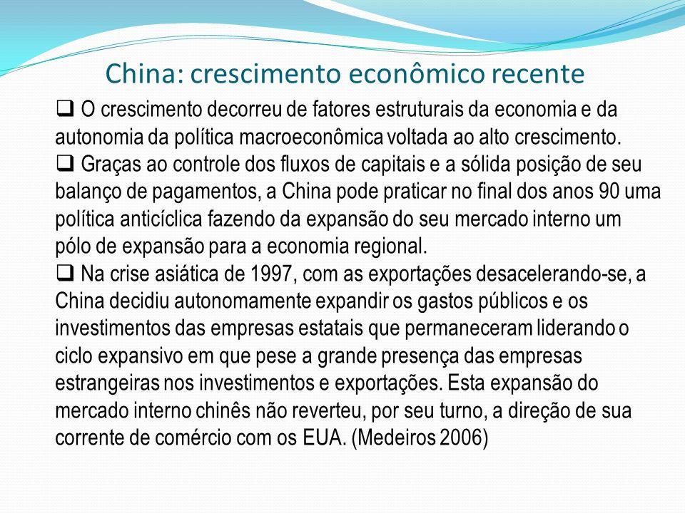 O crescimento decorreu de fatores estruturais da economia e da autonomia da política macroeconômica voltada ao alto crescimento. Graças ao controle do