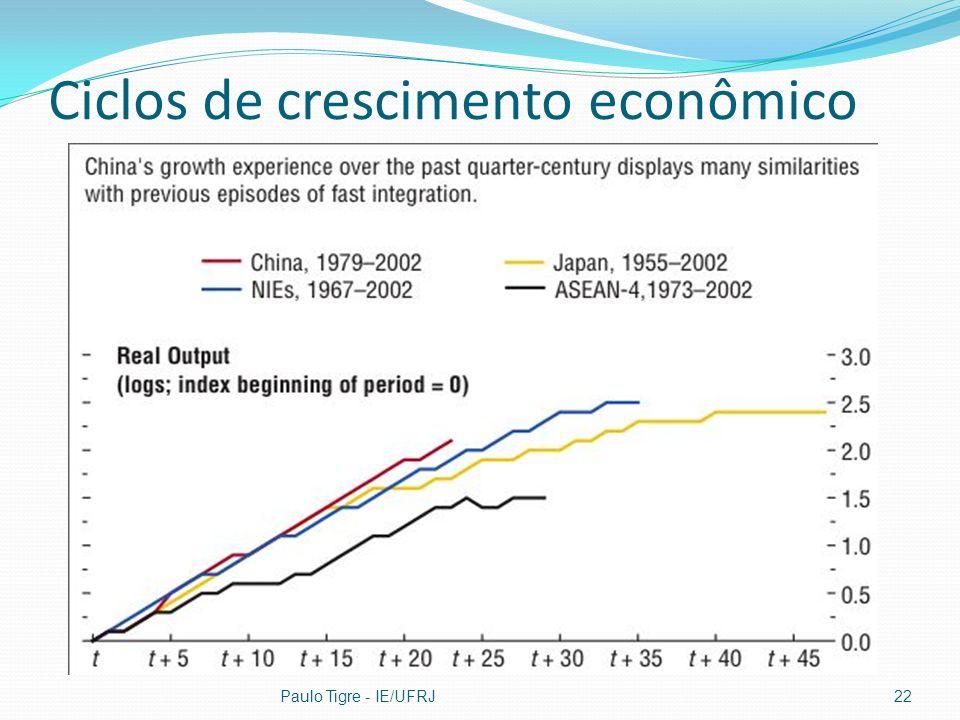 Ciclos de crescimento econômico Paulo Tigre - IE/UFRJ22