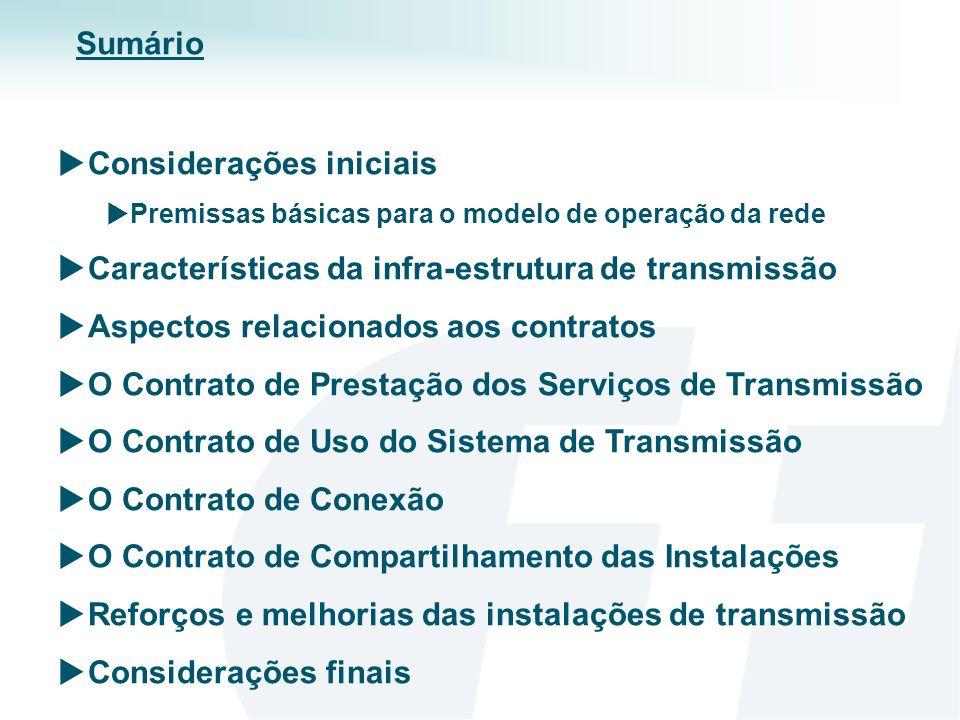 Premissas básicas para o modelo de operação da Rede Minimização dos efeitos das quatro falhas de mercado Assimetria de informações (AI) Externalidades (E) Poder de Monopólio (PM) Bens públicos (BP) A rede de transmissão é uma das fontes dessas falhas O funcionamento da rede (equipamentos) é melhor conhecido pelos proprietários (AI) Uma nova entrada na rede (de uma usina ou de uma carga), se a rede não estiver preparada, pode afetar o desempenho do sistema (E) Restrições de transmissão, limitando o fluxo de energia, tornam o sistema vulnerável ao poder de monopólio (PM) A confiabilidade é vista como um bem público, o que exige bastante cuidado na forma de alocar os custos e avaliar seus efeitos (BP e E) Esses problemas são adequadamente resolvidos no Brasil.