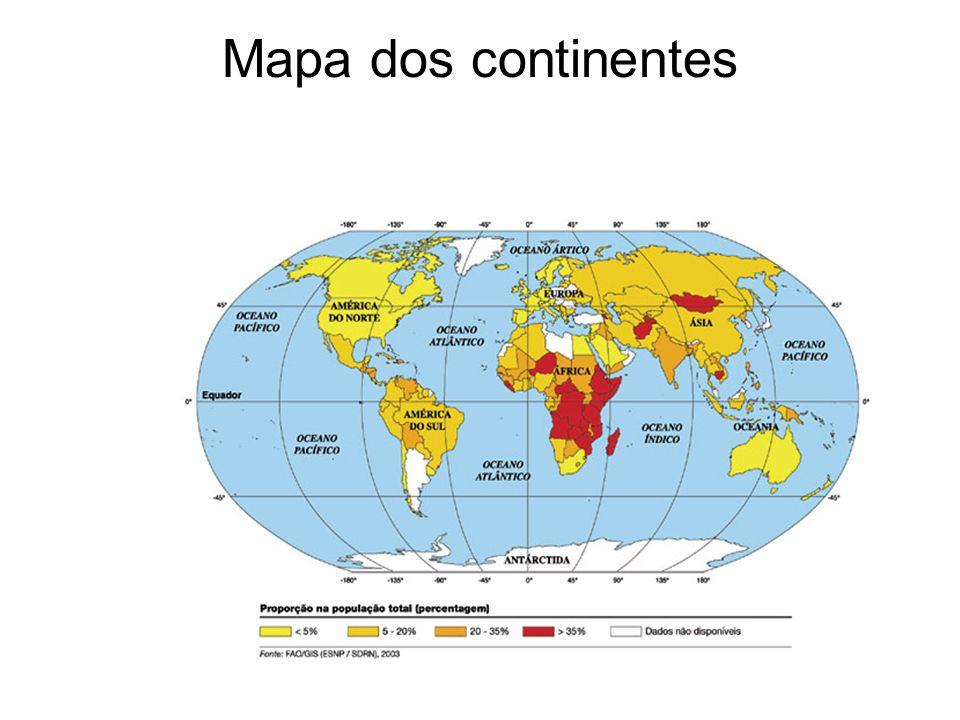 Mapa dos continentes