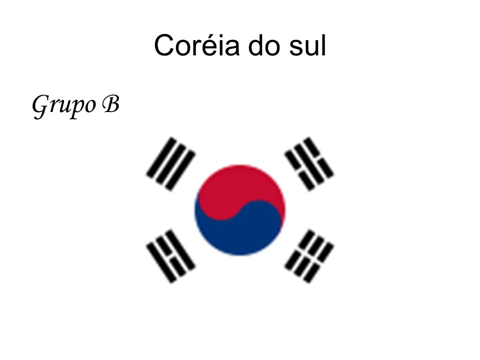 Coréia do sul Grupo B