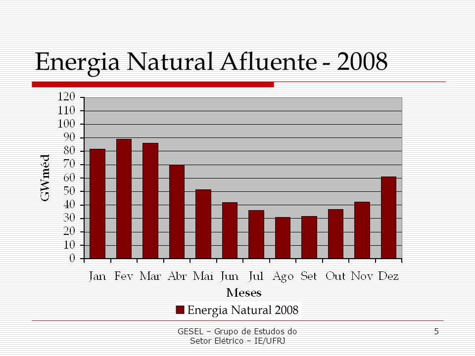 5 Energia Natural Afluente - 2008