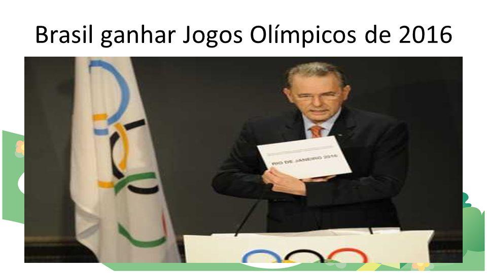 Brasil ganhar Jogos Olímpicos de 2016