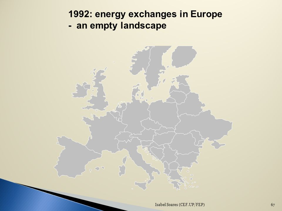 Isabel Soares (CEF.UP/FEP)67 1992: energy exchanges in Europe - an empty landscape