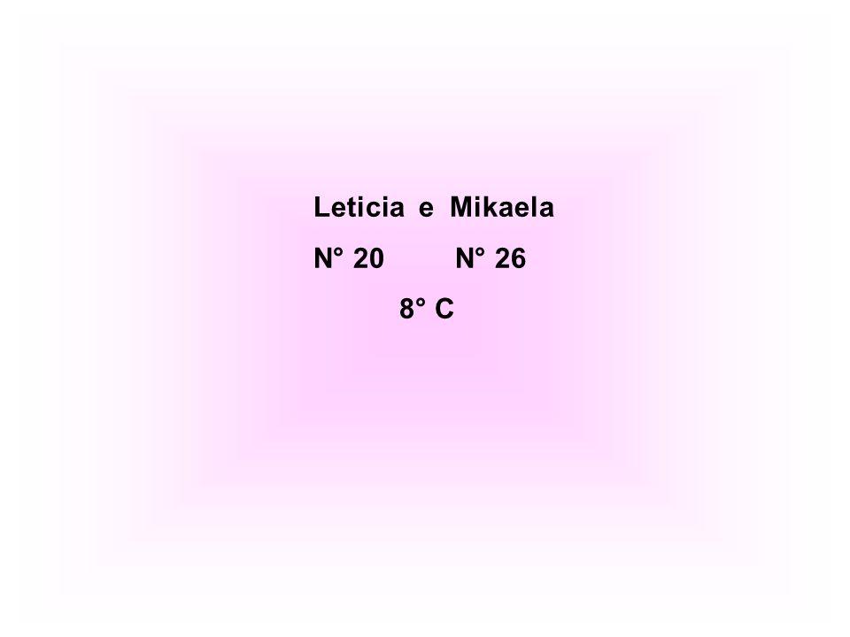 Leticia e Mikaela N° 20 N° 26 8° C