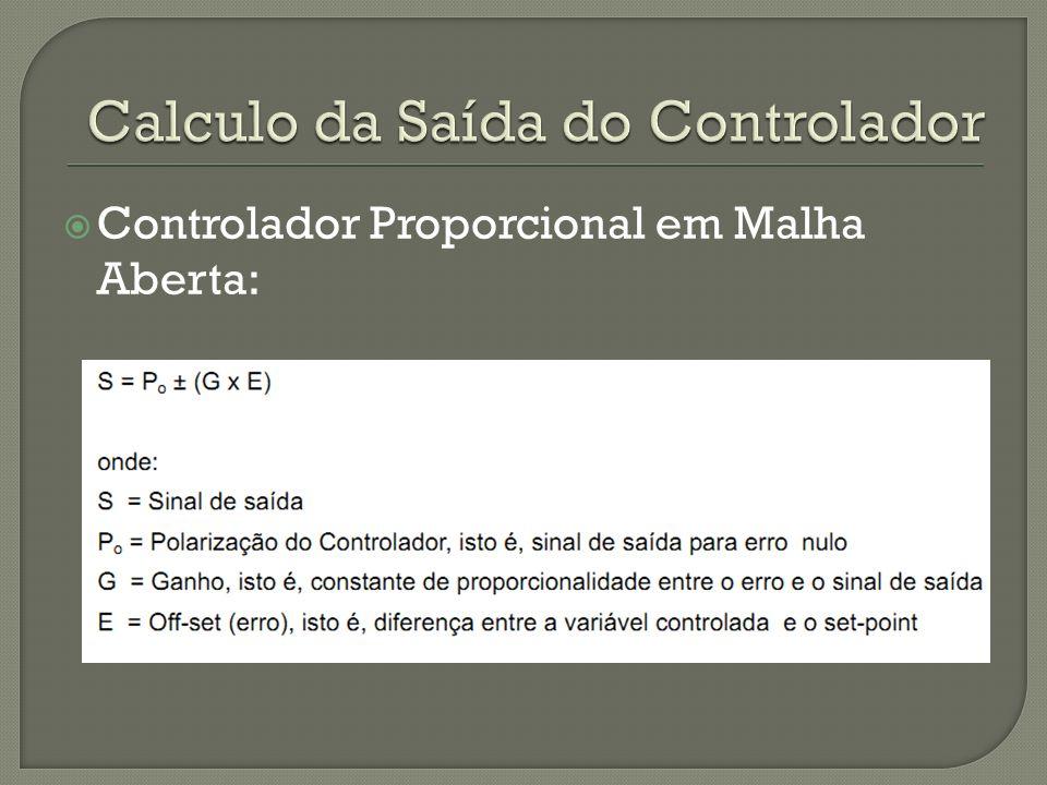Controlador Proporcional em Malha Aberta: