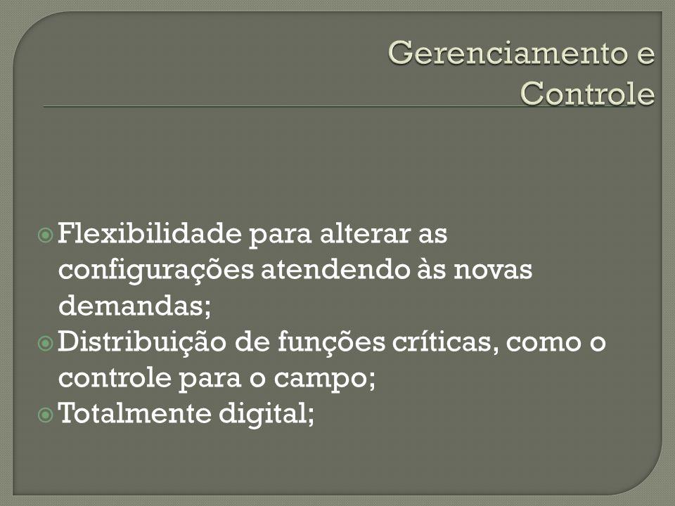 Flexibilidade para alterar as configurações atendendo às novas demandas; Distribuição de funções críticas, como o controle para o campo; Totalmente di