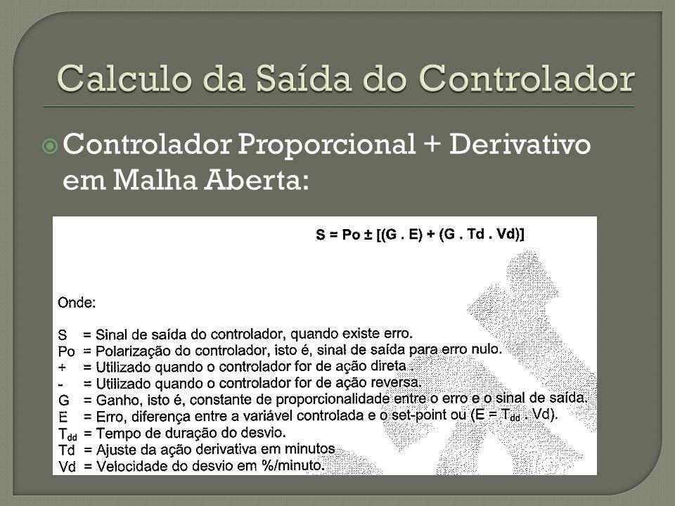 Controlador Proporcional + Derivativo em Malha Aberta: