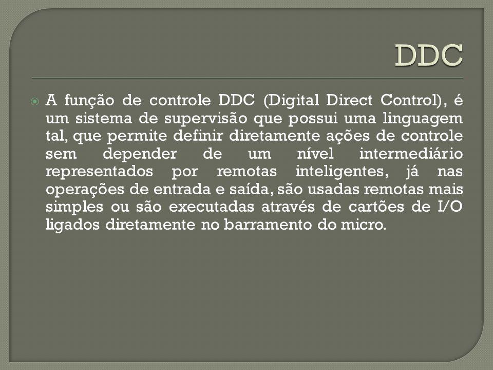 A função de controle DDC (Digital Direct Control), é um sistema de supervisão que possui uma linguagem tal, que permite definir diretamente ações de c