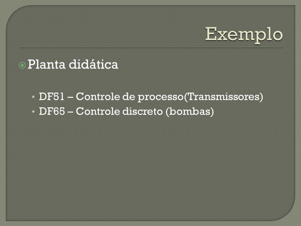 Planta didática DF51 – Controle de processo(Transmissores) DF65 – Controle discreto (bombas)