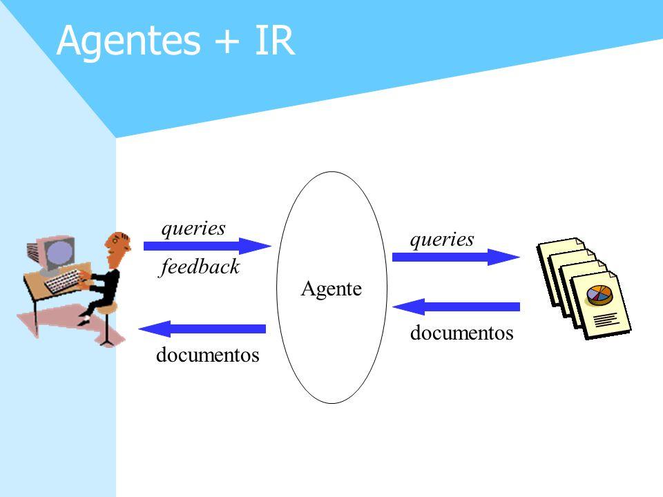 26 Agentes + IR Agente documentos queries documentos queries feedback