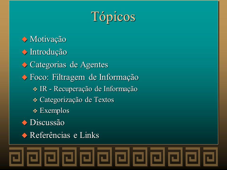 Agentes na Internet Patrícia Nunes Pereira Professor: Geber Ramalho