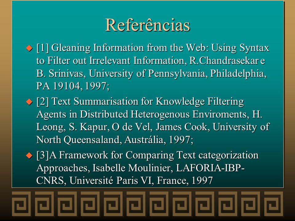 Links u http://www.ece.curtin.edu.au/~saounb/bargainbot/ articles.html u http://www.firefly.com u http://www.sics.pe/ps/abc/survey.html u http://www.d