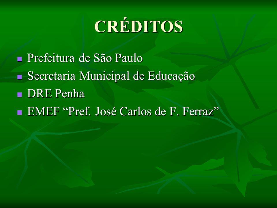 CRÉDITOS Prefeitura de São Paulo Prefeitura de São Paulo Secretaria Municipal de Educação Secretaria Municipal de Educação DRE Penha DRE Penha EMEF Pref.
