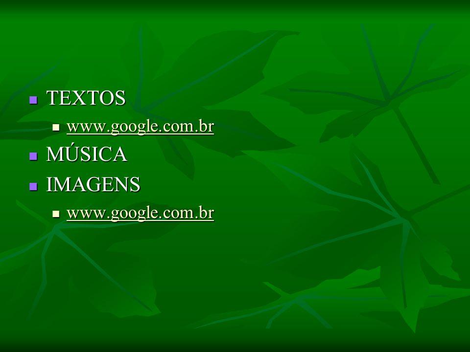 TEXTOS TEXTOS www.google.com.br www.google.com.br MÚSICA MÚSICA IMAGENS IMAGENS www.google.com.br www.google.com.br