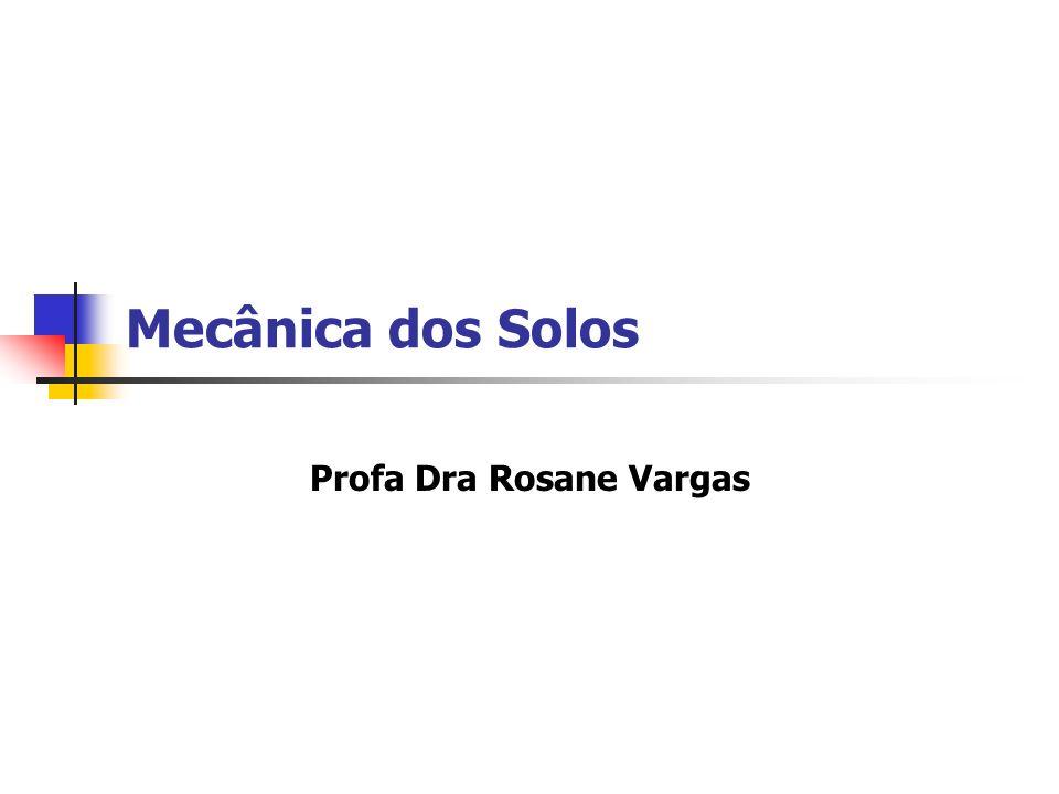 Apresentação geral Docente Horário Bibliografia Avaliações Profa Rosane Vargas – Disciplina Mecânica dos Solos