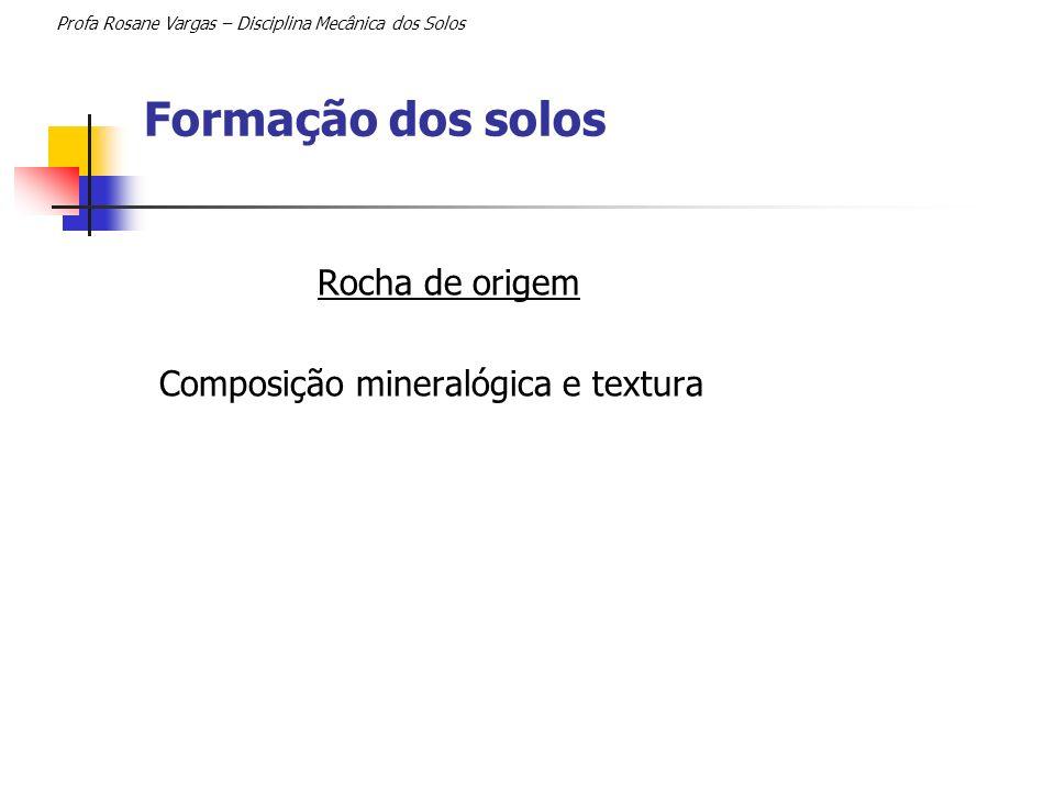 Formação dos solos Profa Rosane Vargas – Disciplina Mecânica dos Solos Clima Temperatura; Chuva.