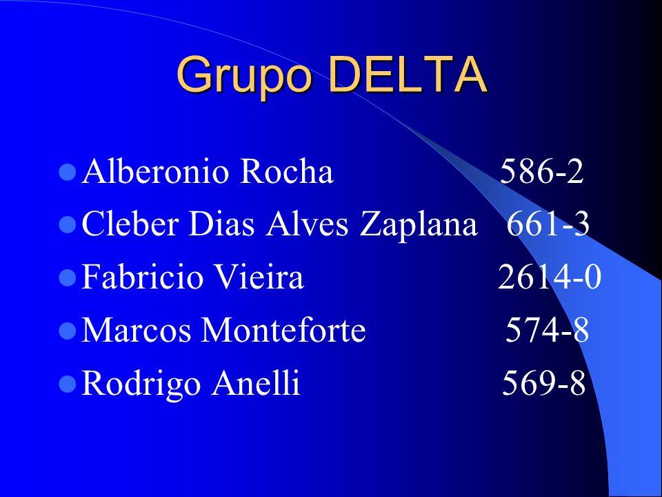 Grupo DELTA Alberonio Rocha 586-2 Cleber Dias Alves Zaplana 661-3 Fabricio Vieira 2614-0 Marcos Monteforte 574-8 Rodrigo Anelli 569-8
