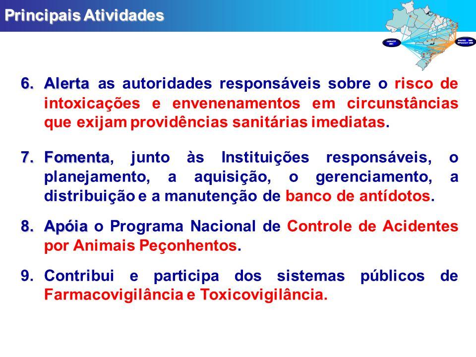 6.Alerta 6.Alerta as autoridades responsáveis sobre o risco de intoxicações e envenenamentos em circunstâncias que exijam providências sanitárias imed