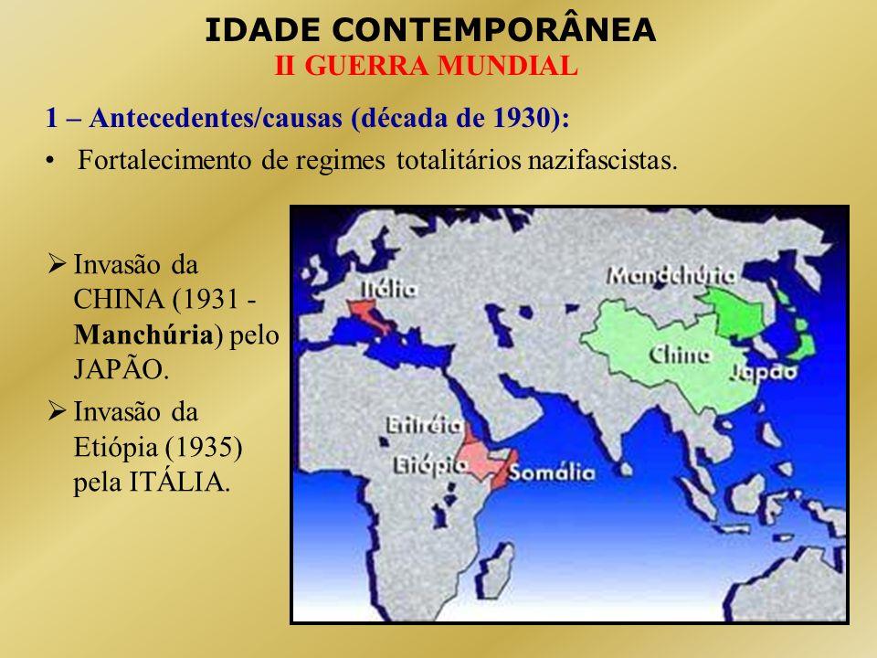 IDADE CONTEMPORÂNEA II GUERRA MUNDIAL Desrespeito da ALEMANHA ao Tratado de Versalhes.