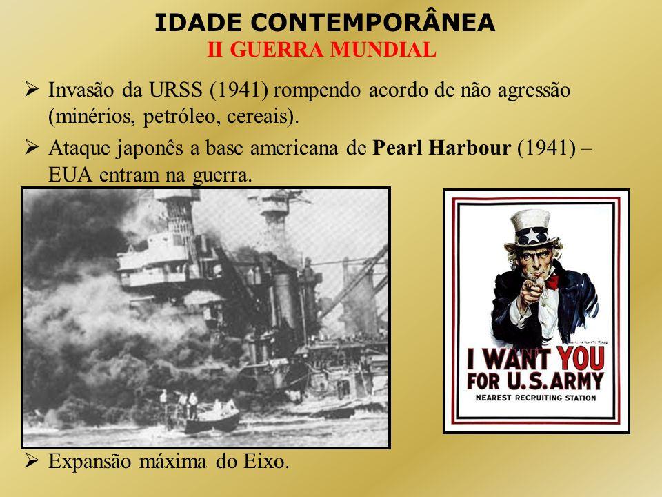 IDADE CONTEMPORÂNEA II GUERRA MUNDIAL 4 - Os acordos de paz: A) Conferência de Teerã (IRÃ – 1943): Libertação da FRANÇA: EUA + INGLATERRA.