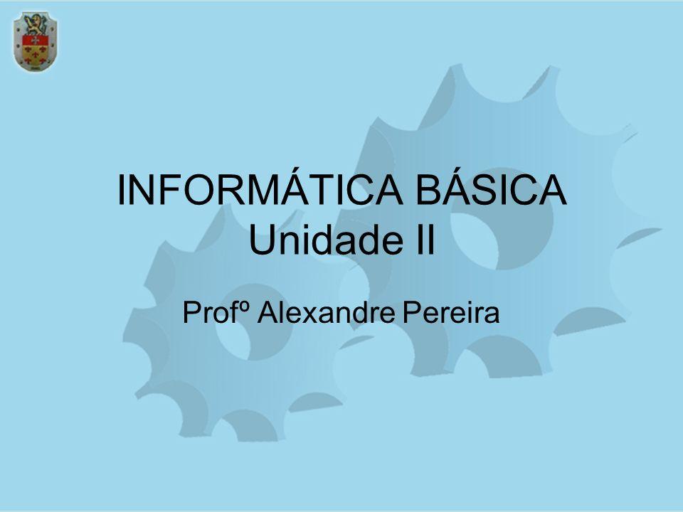 INFORMÁTICA BÁSICA Unidade II Profº Alexandre Pereira