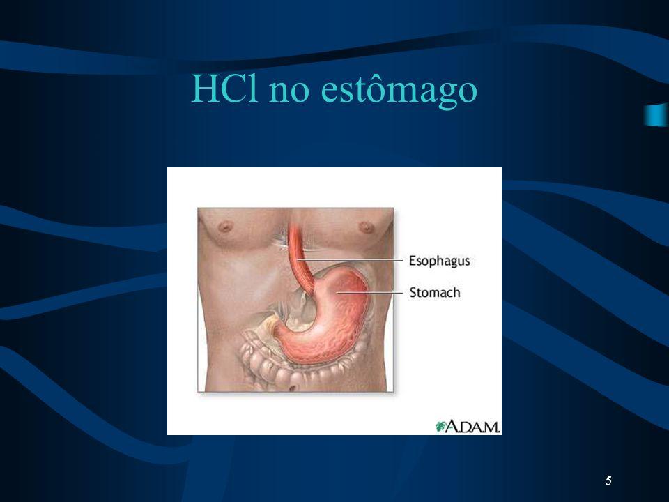 5 HCl no estômago