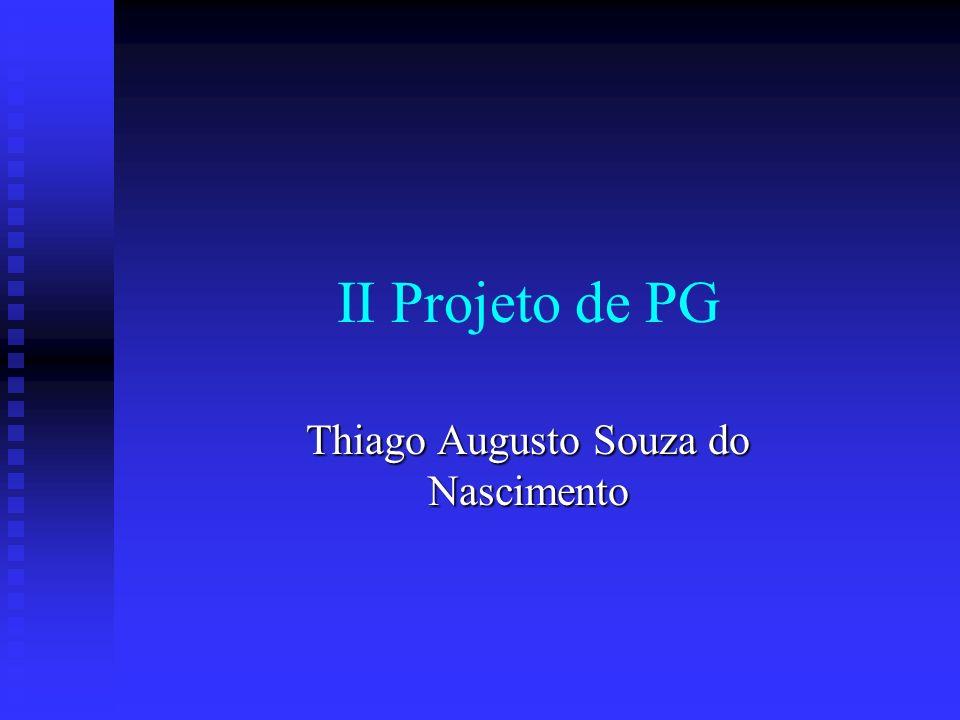 II Projeto de PG Thiago Augusto Souza do Nascimento