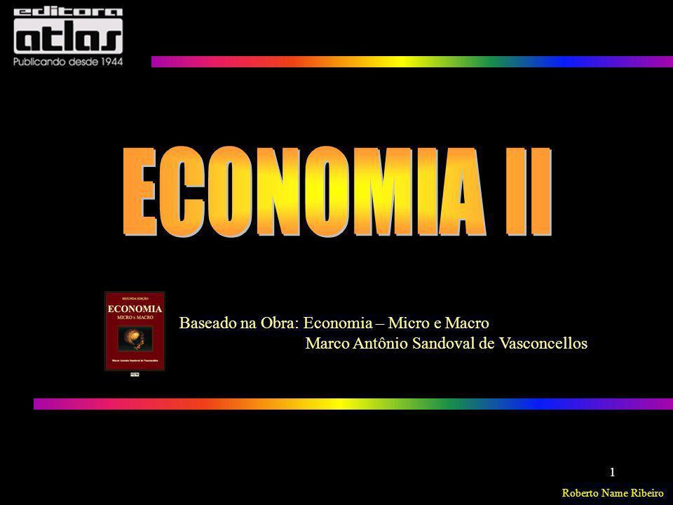 Roberto Name Ribeiro ECONOMIA – Micro e Macro 1 Baseado na Obra: Economia – Micro e Macro Marco Antônio Sandoval de Vasconcellos