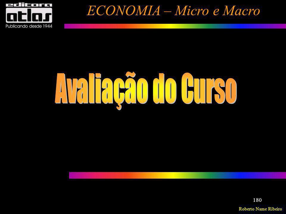 Roberto Name Ribeiro ECONOMIA – Micro e Macro 180