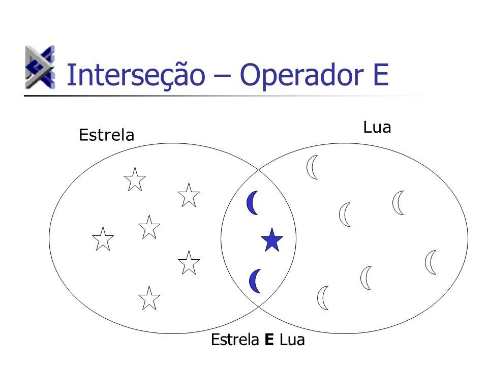 Interseção – Operador E Estrela Lua Estrela E Lua